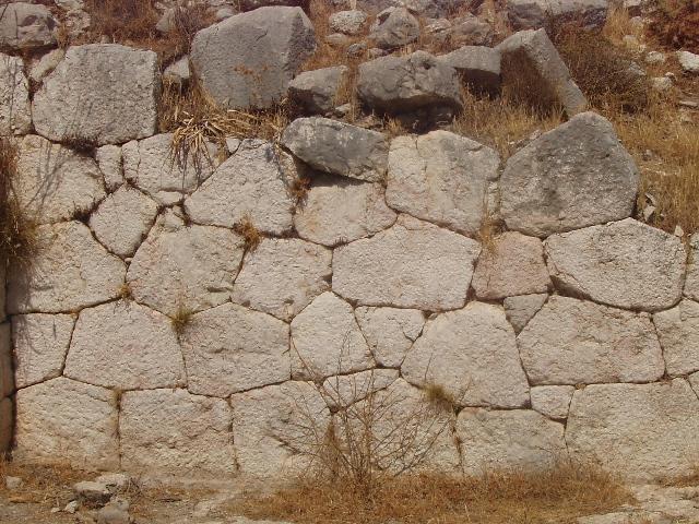 Polygonal wall at Xanthos - Lycian coast Turkey 2008